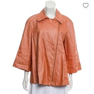 LAFAYETTE 148 NEW YORK Orange Linen Coat Jacket